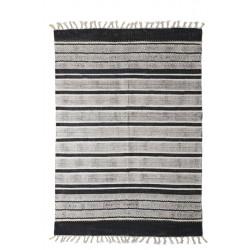 Χαλί Lotus Cotton Kilim 338 Black Royal Carpet